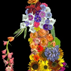 Пазл онлайн: Цветочный человечек
