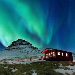 Пазл онлайн: Северное сияние. Исландия