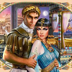 Пазл онлайн: Антоний и Клеопатра
