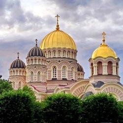 Пазл онлайн: Кафедральный собор Рождества Христова в Риге