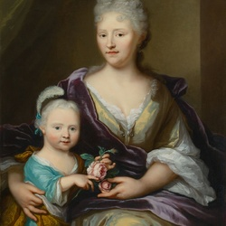 Пазл онлайн: Елизавета Борс с дочерью