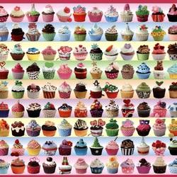 Пазл онлайн: Кексики-мечта сладкоежки