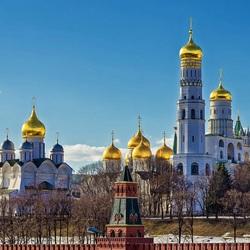 Пазл онлайн: Золотые купола Кремля