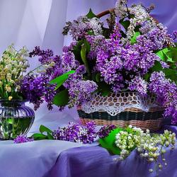Пазл онлайн: Букеты цветов