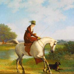 Пазл онлайн: Прогулка на лошадях