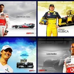 Пазл онлайн:  Пилоты Формулы 1