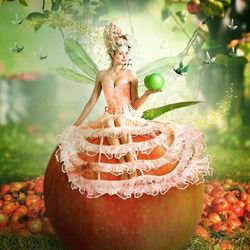 Пазл онлайн: Яблочная фея
