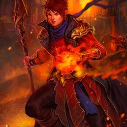 Пазл онлайн: Огненный маг