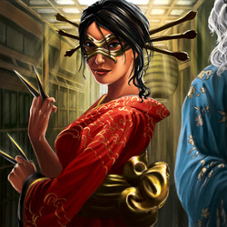 Пазл онлайн: Шосуро Таказаки - посредница клана Скорпиона