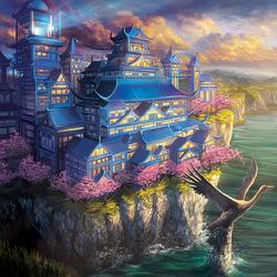 Пазл онлайн: Изысканный дворец Журавля