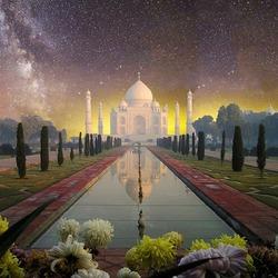 Пазл онлайн: Тадж -  Махал