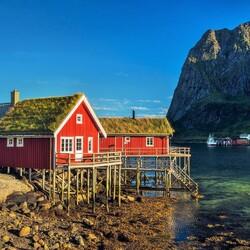 Пазл онлайн: Рыбацкие домики, Лофотены
