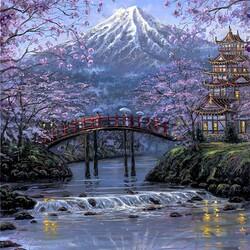 Пазл онлайн: Гора Фуджи