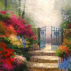 Пазл онлайн: Ворота в сад любви