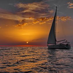 Пазл онлайн: Яхта