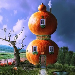 Пазл онлайн: Тыквенный дом