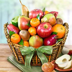 Пазл онлайн: Корзинка фруктов