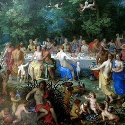 Пазл онлайн: Свадьба Пелея и Фетиды