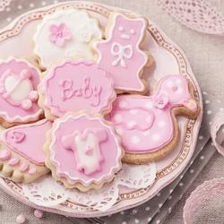 Пазл онлайн: Розовое печенье