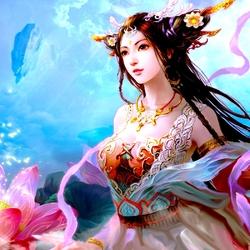 Пазл онлайн: Небесная фея