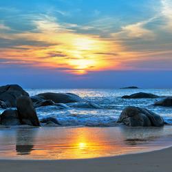 Пазл онлайн: Утро на море