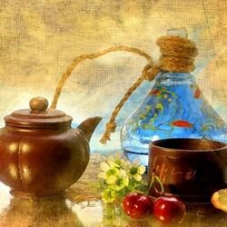 Пазл онлайн: Все к чаепитию