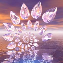 Пазл онлайн: Геометрический танец кристаллов