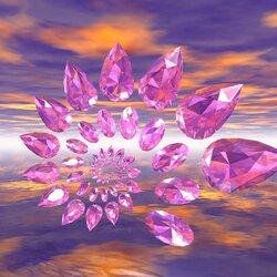 Пазл онлайн: Розовые бриллианты
