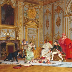 Пазл онлайн: Подготовка коронации Наполеона