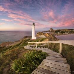 Пазл онлайн: Маяк в Новой Зеландии
