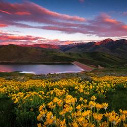 Пазл онлайн: Горное озеро