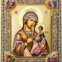 Пазл онлайн: Икона Божьей Матери