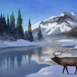 Пазл онлайн: Среди снегов