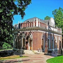 Пазл онлайн: Малый дворец в Царицыно