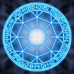 Пазл онлайн: Магический круг ледяного кристалла