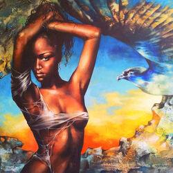 Пазл онлайн: Птица любви