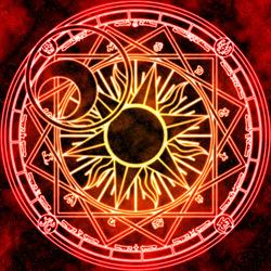 Пазл онлайн: Магический круг солнечной короны