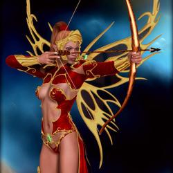 Пазл онлайн: Королева-лучница фейри