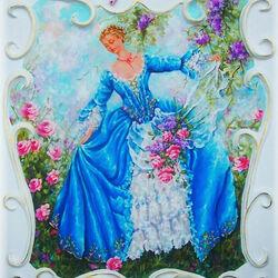 Пазл онлайн: Девушка среди роз