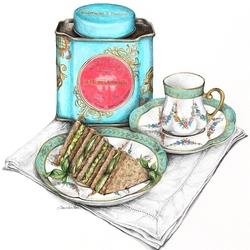 Пазл онлайн: К чаю