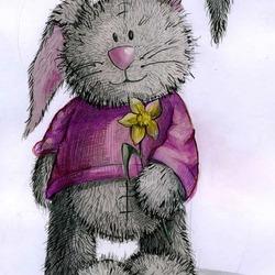 Пазл онлайн: Зайчишка