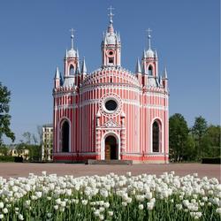 Пазл онлайн: Чесменская Церковь