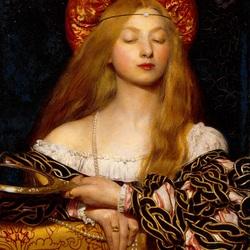 Пазл онлайн: Золотоволосая девушка