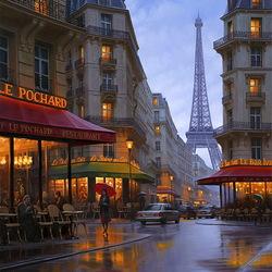 Пазл онлайн: Вечер в Париже
