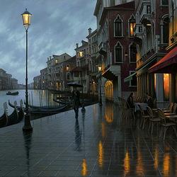 Пазл онлайн: Сумерки в Венеции