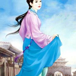 Пазл онлайн: Молодая китаянка