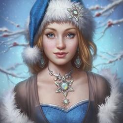 Пазл онлайн: Рождественская леди
