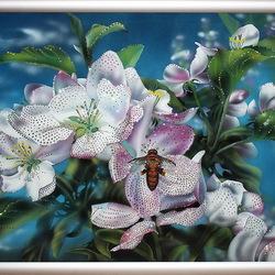 Пазл онлайн: Яблони в цвету