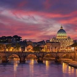 Пазл онлайн: Вечерний Рим