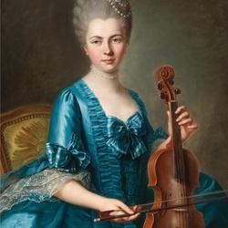 Пазл онлайн: Юная дама со скрипкой